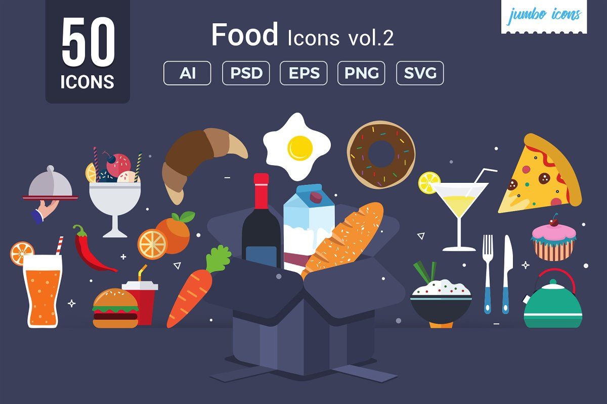 Foods Vector Icons V2