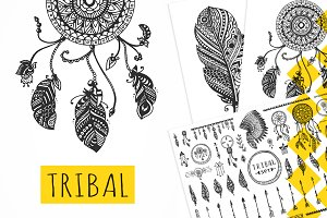 TRIBAL Vector Elements Collection
