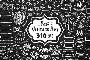 310 elements - Big Vintage Set