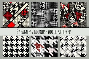 Set of hounds-tooth patterns.