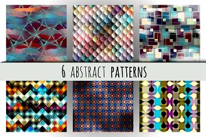 Set of abstract geometric patterns.