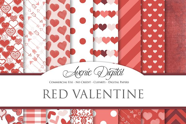 Red Valentine's Day Papers