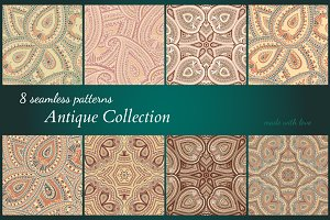 Antique Collection: 8 seamless patte