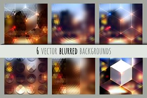 Set of blurred backgrounds.