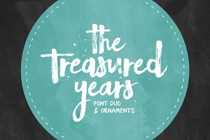 The Treasured Years Font Duo + Bonus