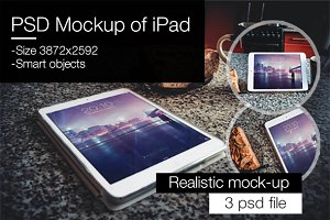 PSD Mockup of iPad