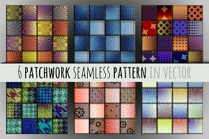 Set of seamless patchworks.