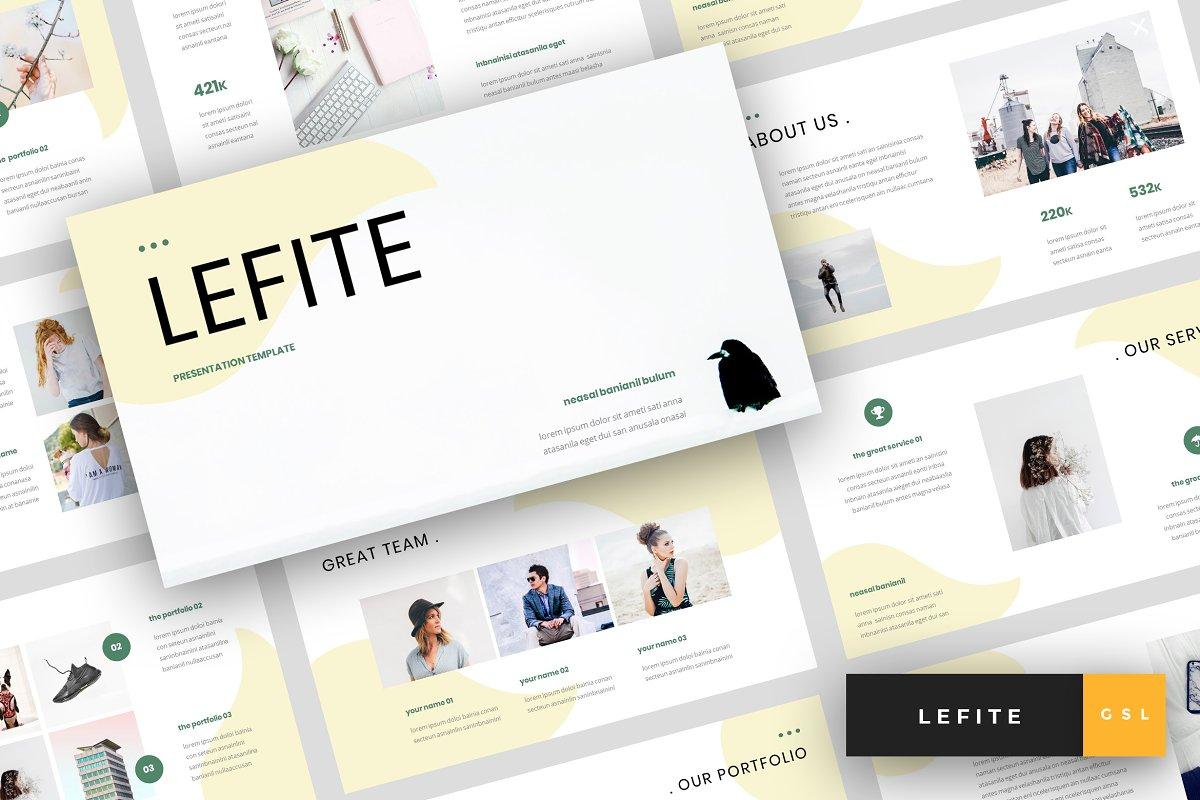 ea08ef9924 Lefite - Magazine Google Slides ~ Google Slides Templates ~ Creative ...
