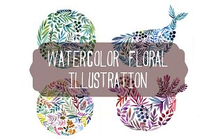 watercolor floral illustrations