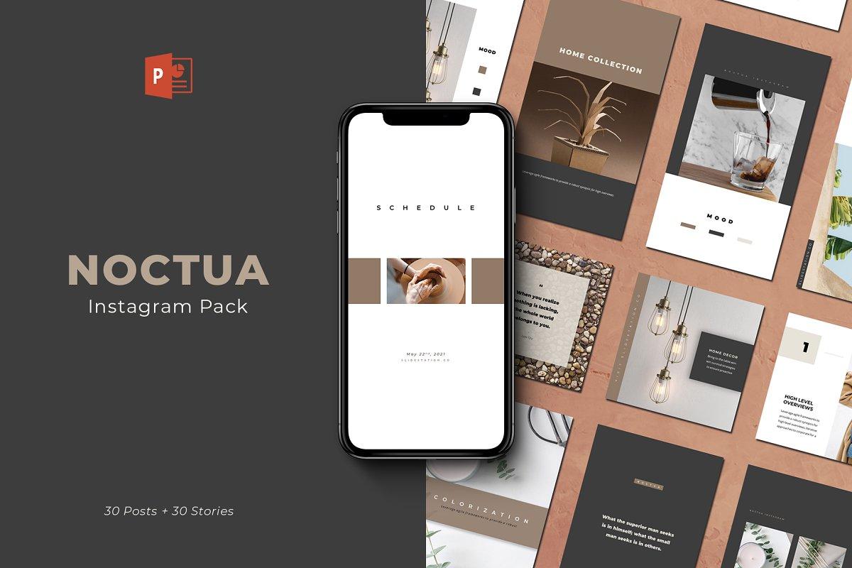 Noctua PowerPoint Instagram Pack ~ Instagram Templates
