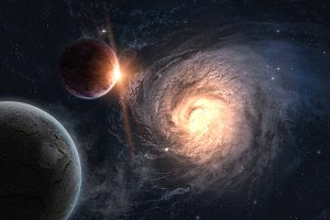 Beautiful outer space wallpaper