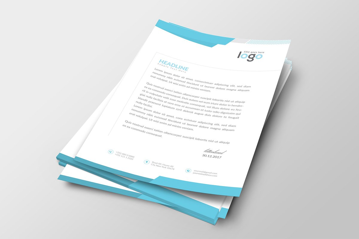 Creative Letterhead Template in Stationery Templates - product preview 8