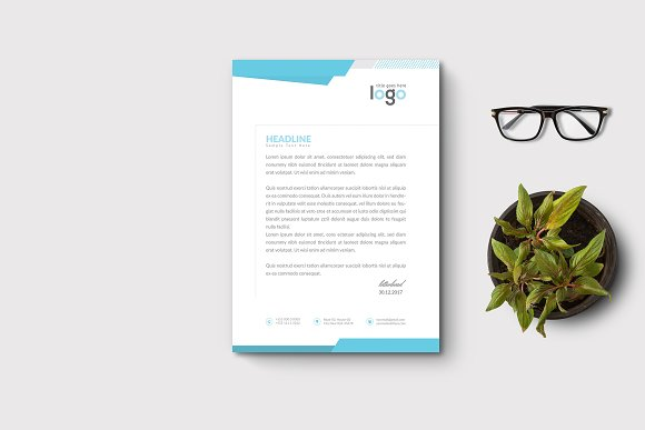 Creative Letterhead Template in Stationery Templates - product preview 1