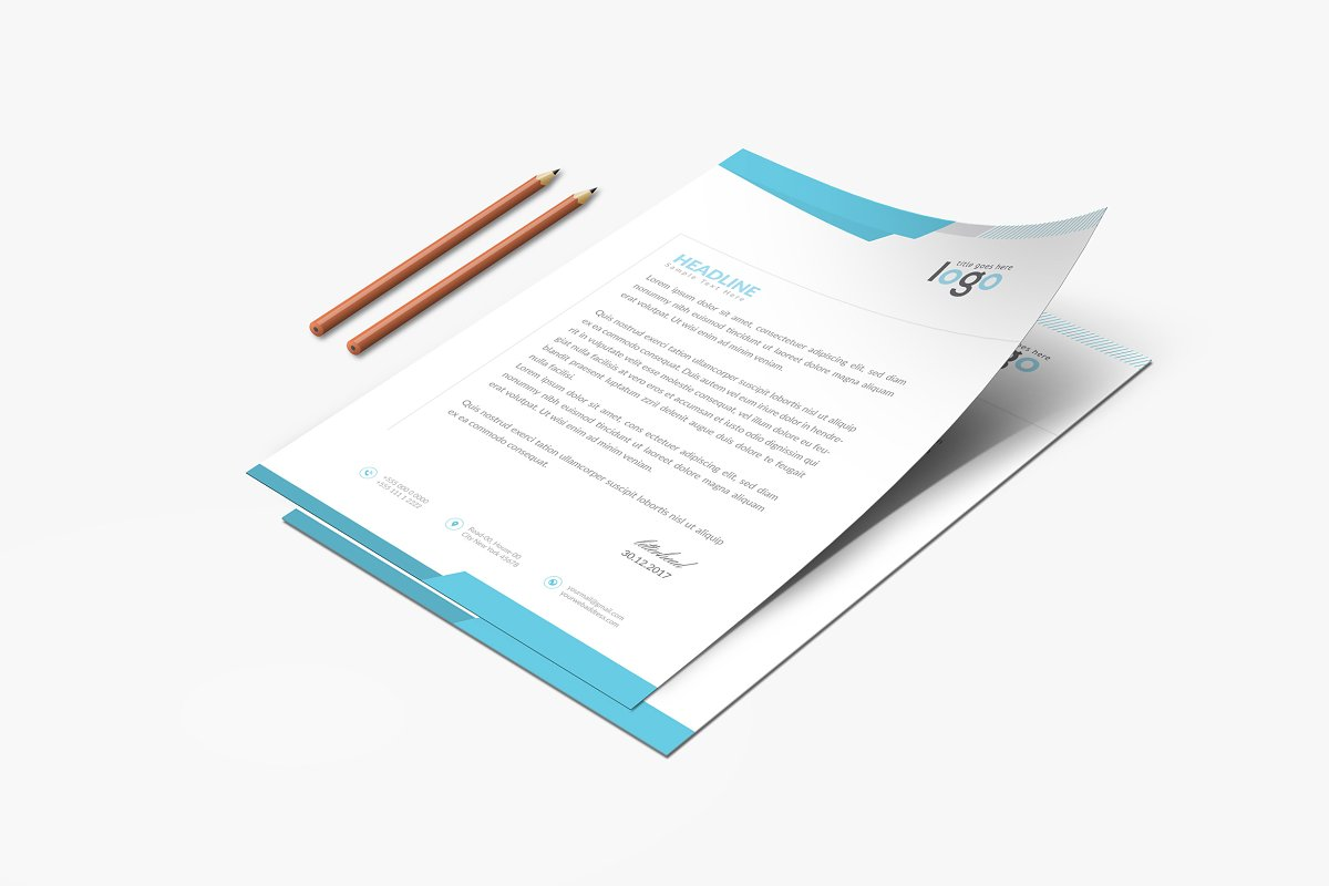 Creative Letterhead Template in Stationery Templates - product preview 2