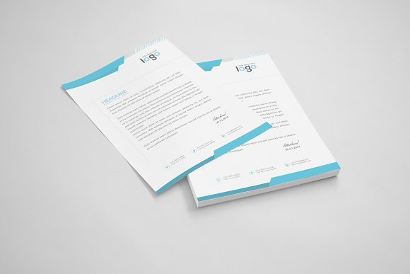 Creative Letterhead Template in Stationery Templates - product preview 3