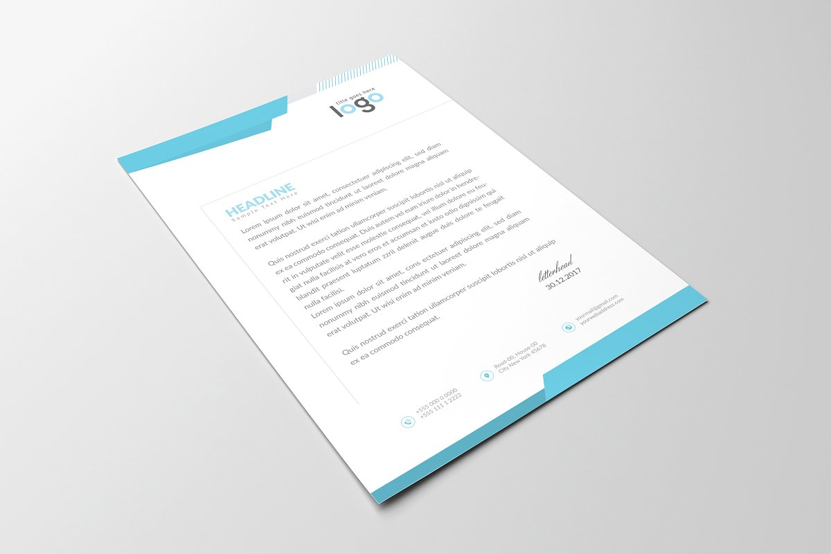 Creative Letterhead Template in Stationery Templates - product preview 4