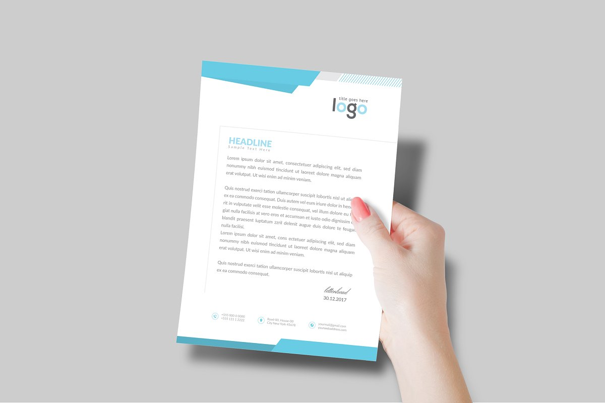 Creative Letterhead Template in Stationery Templates - product preview 6