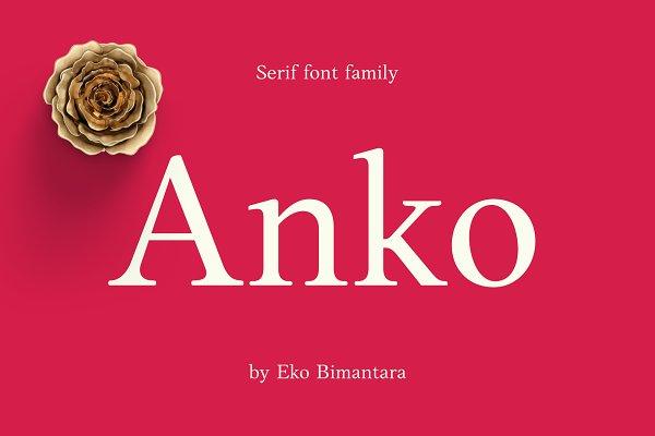 Anko Serif Font Family