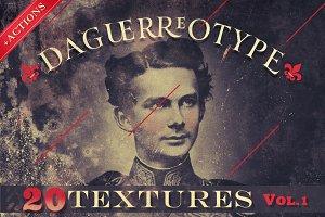 20 Daguerreotype Textures & Actions