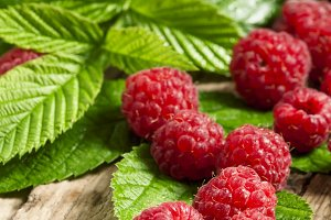 Fresh ripe raspberries