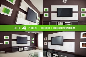 Modern Minimalistic Interior with TV