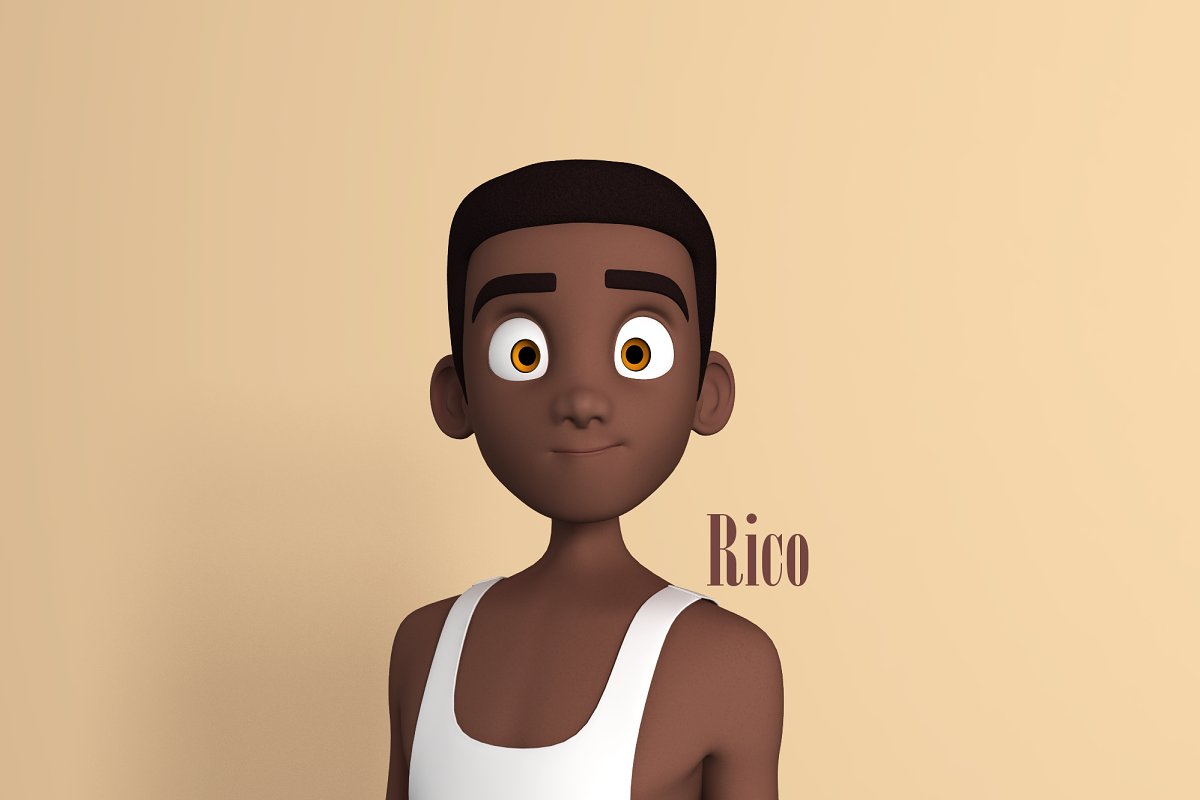 Rico Stylised Male Teen character AR