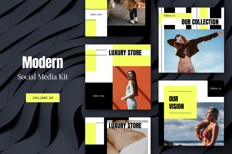. Modern Social Media Kit  Vol  24