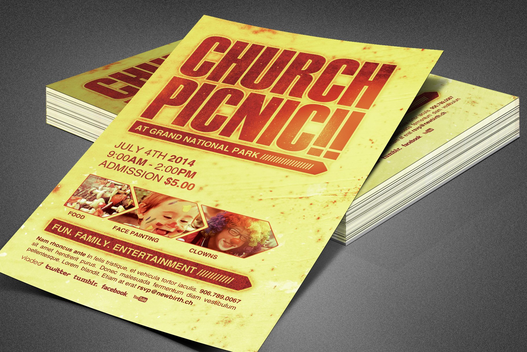Church Picnic Flyer Template Creative Daddy