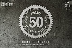 Vintage Logo Badge Insignia Bundle