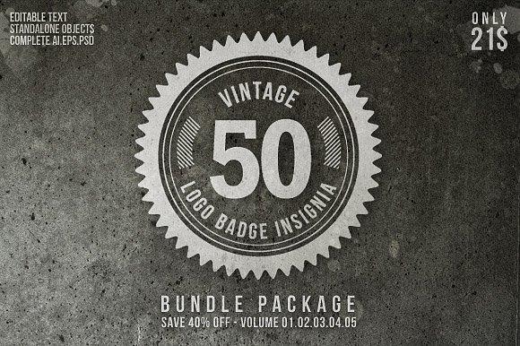 Vintage Logo Badge Insignia Bundle Templates Creative Market