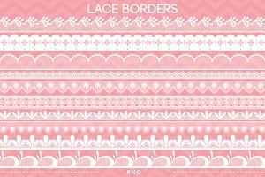 10 Lace Borders Clip Art I