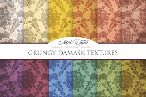 Grungy Damask Textures