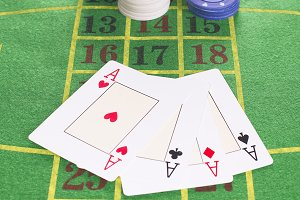 Four aces and poker rooms