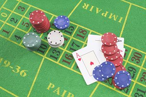 Four aces with poker rooms