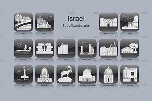 Israel landmark icons (16x)