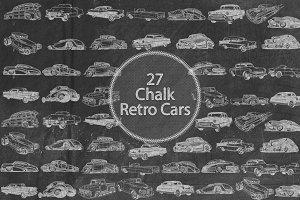 Chalk Retro Cars