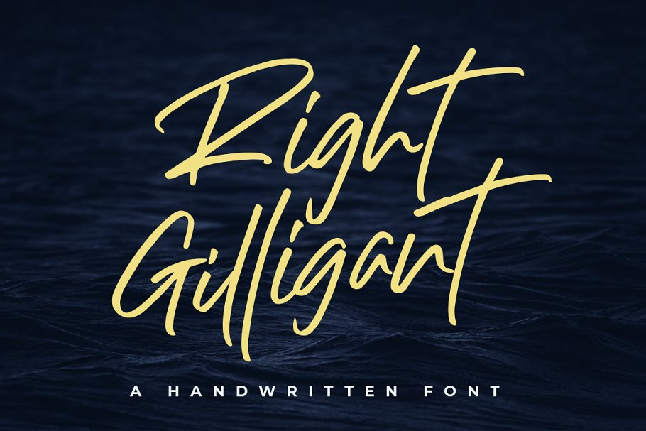 Right Gilligant • A Handwritten Font in Script Fonts