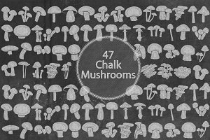 Chalk Mushrooms
