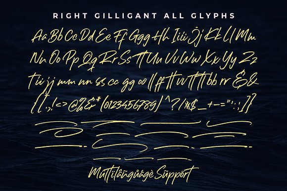 Right Gilligant • A Handwritten Font in Script Fonts - product preview 7
