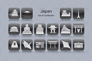 Japan landmark icons (16x)