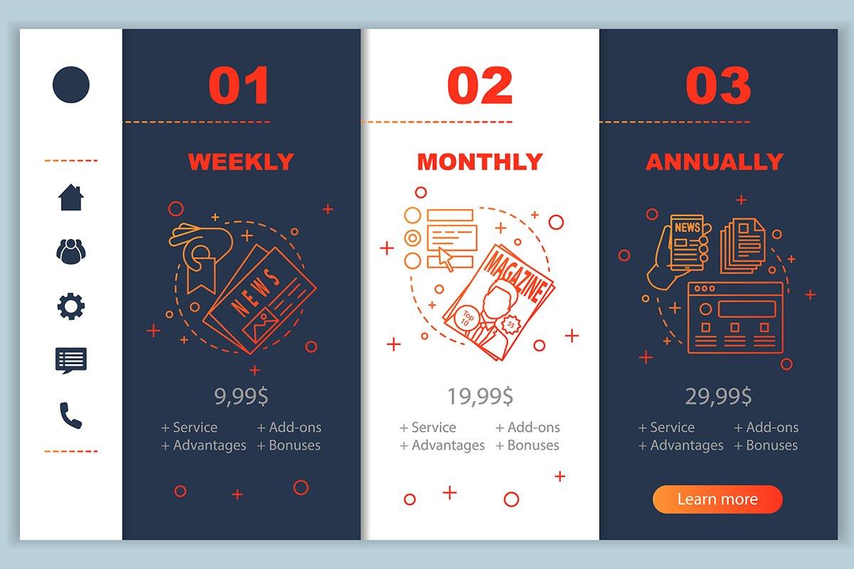 Magazine Subscription App Pages Creative App Templates
