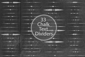 Chalk Text Dividers