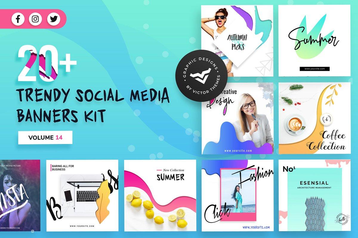 Social Media Banners Kit Volume XIV