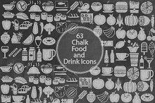 Chalk Food and Drink Icons