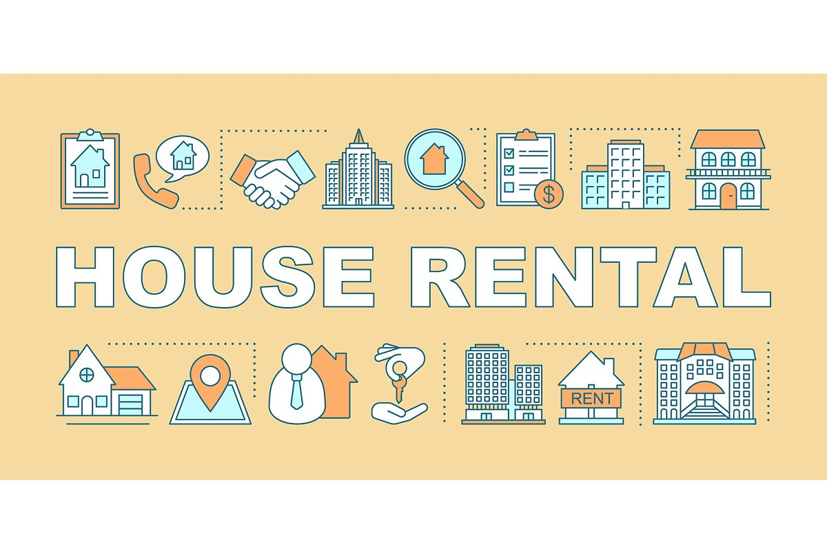 House rental word concepts banner