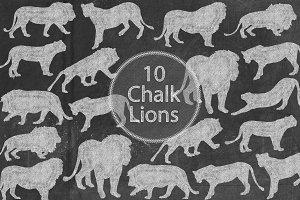 Chalk Lions