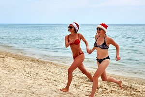Celebrating Christmas on the beach