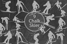 Chalk Skier