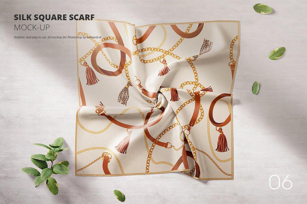 Silk Square Scarf Mockup