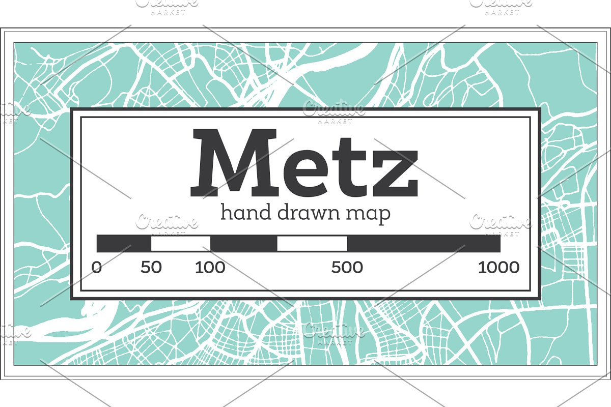 Metz France City Map in Retro Style. in Illustrations - product preview 8